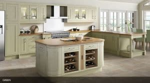 Wood Framed Painted Kitchen