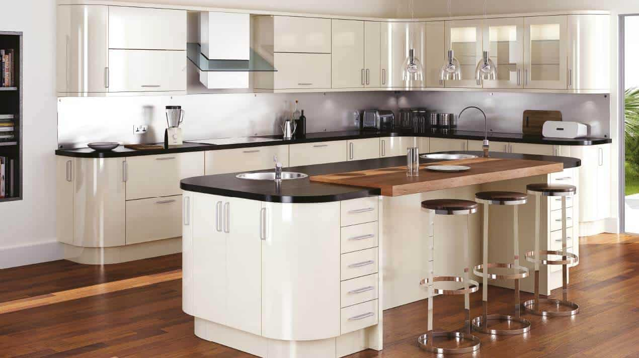 Kitchen Design Stone Wood