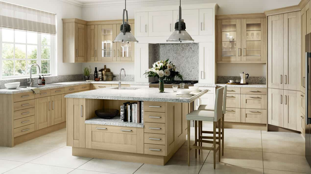 Sand Oak Shaker Kitchen