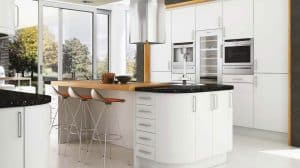Satin White Kitchen