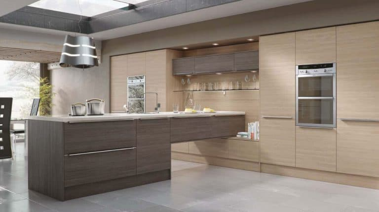Woodgrain Champagne Avola Kitchen