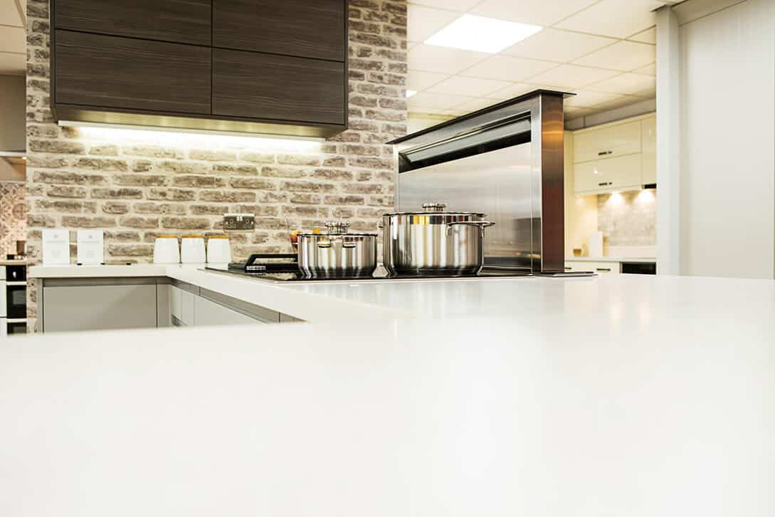 modern fitted kitchen appliances
