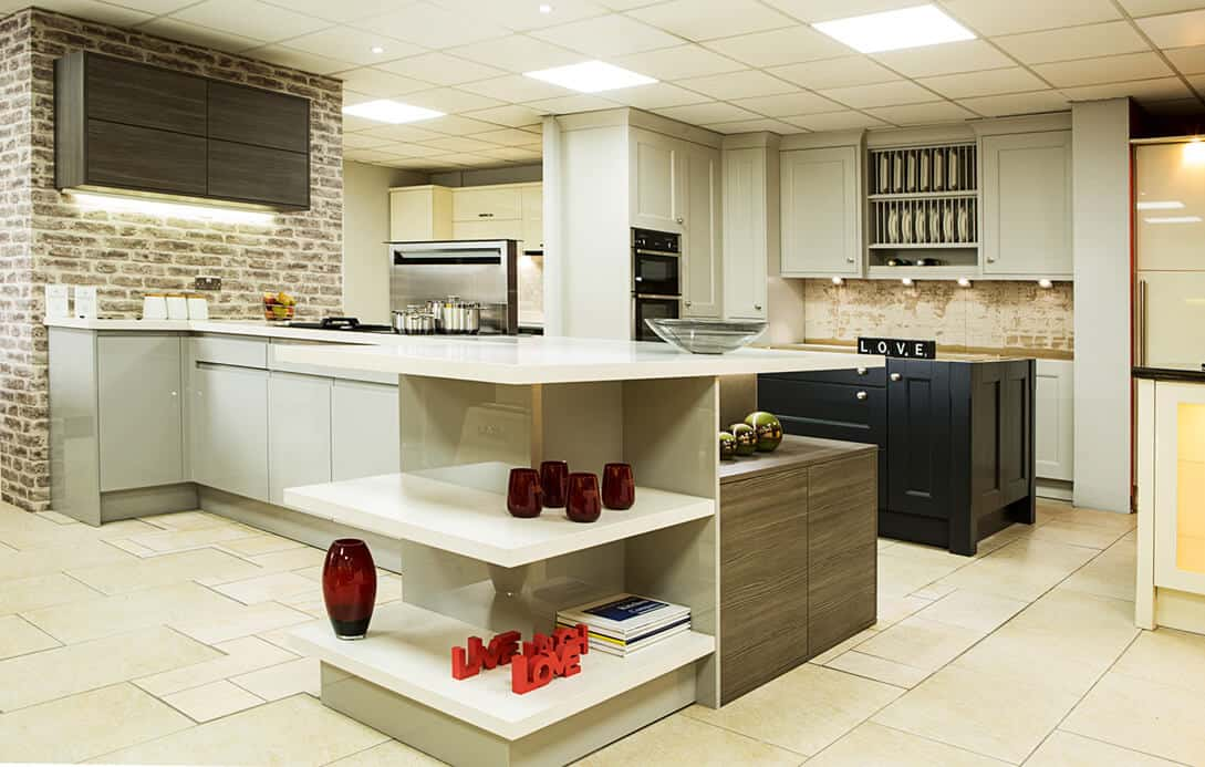 modern kitchen showroom