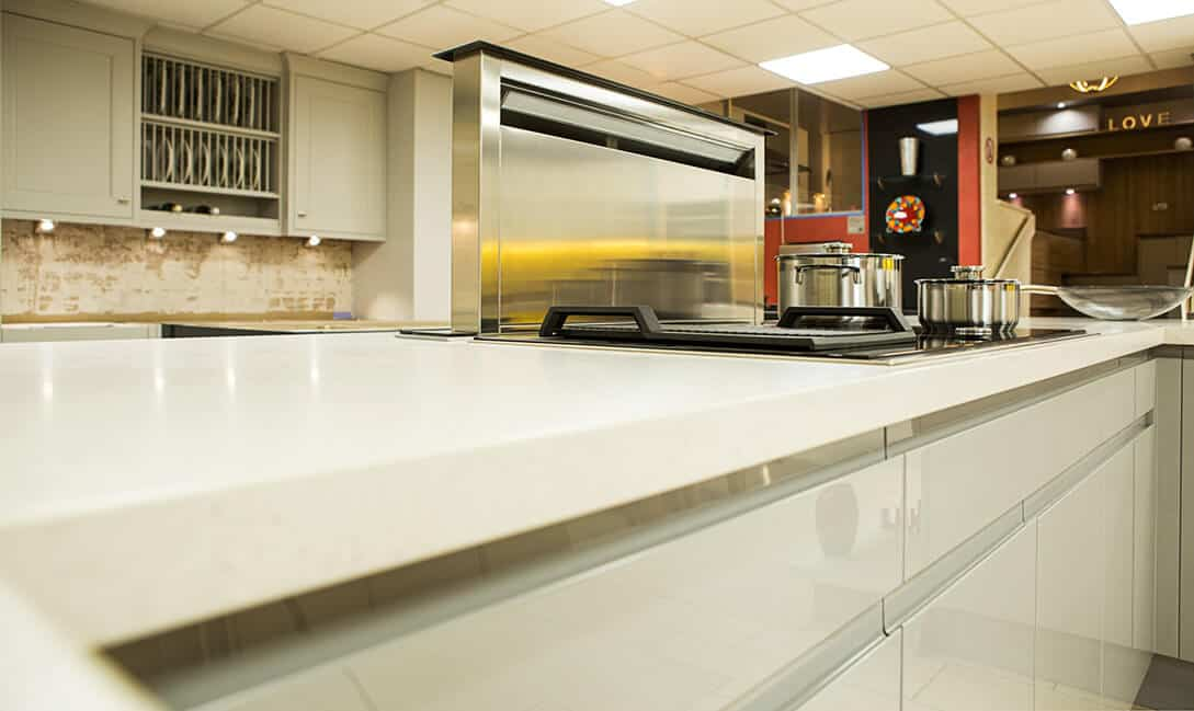 modern high gloss fitted kitchen