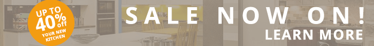 Sale now on! Enjoy up to 40% off your new kitchen