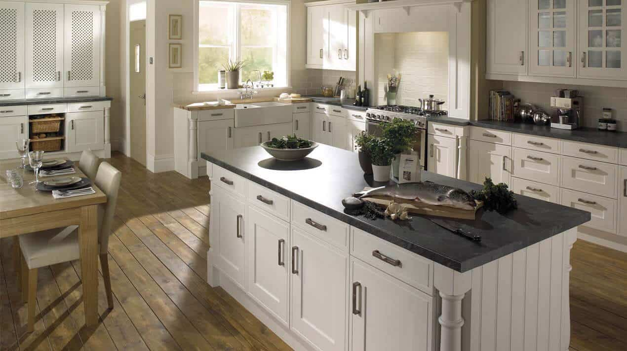 Edwardian Platinum White Kitchen