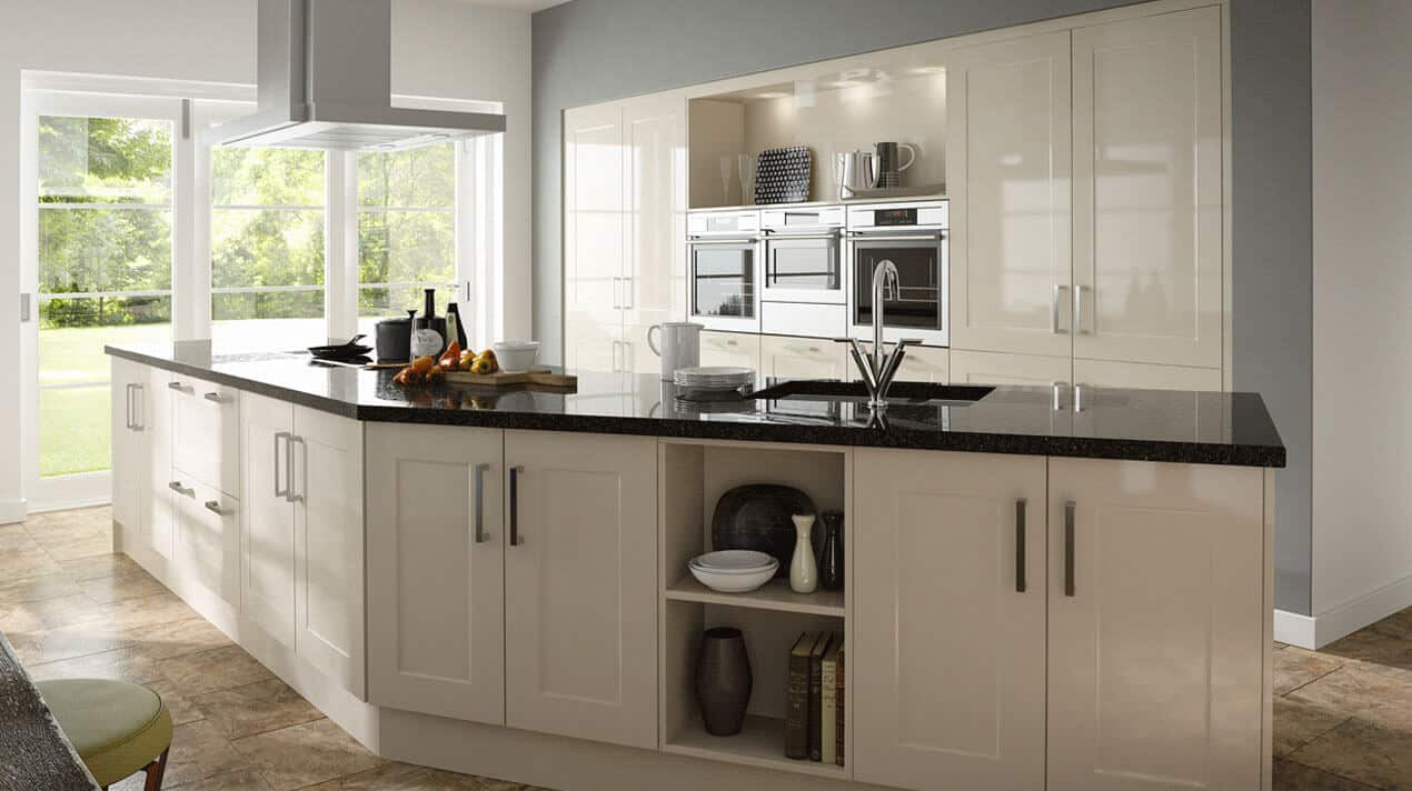 Gloss Stone Shaker Kitchen