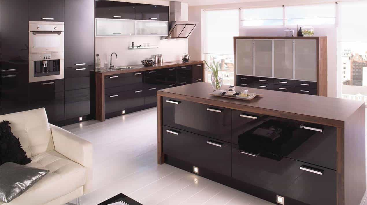 Mattonella Gloss Black Kitchen