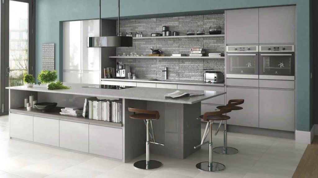 In-Line Gloss Grey Kitchen