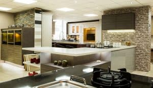 modern firred kitchen showroom