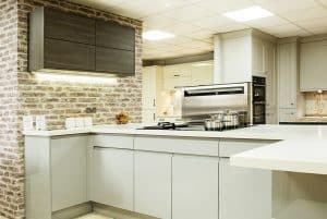 kitchen with clean lines